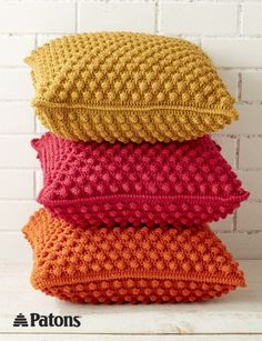 Bobble-licious Pillows - Patterns | Yarnspirations