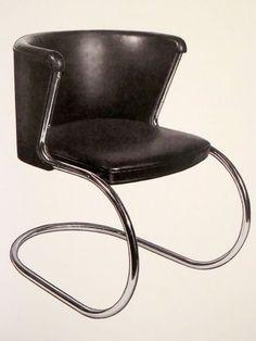 """Lilly Reich: Thonet chair, 1936 (from """"Bauhaus Women: Art, Handicraft, Design"""" by Ulrike Muller)"""