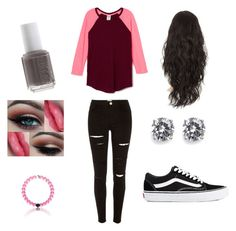 """""""Untitled #56"""" by ashleighyeager on Polyvore featuring River Island, Vans, CZ by Kenneth Jay Lane and Essie"""