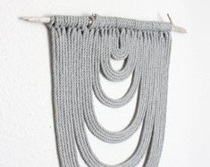 "Macrame Wall Hanging ""Energy Flow no.51"" by HIMO ART, One of a kind Handcrafted Macrame/Rope art"