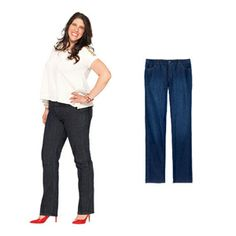 Find the Perfect Jeans for Your Body Type   For Tall and Curvy Body Types: Smooth a Belly and Show Off Legs   AllYou.com