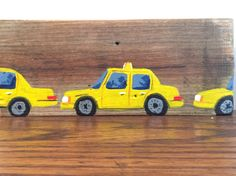 Yellow  cabs on New York wood!