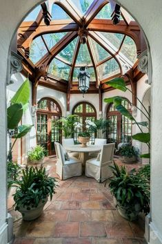 Grand Victorian Style Sun Room dream house luxury home house rooms bedroom furniture home bathroom home modern homes interior penthouse Home Interior Design, Exterior Design, Interior Design Sketches, Interior Garden, Interior Plants, Farmhouse Interior, Interior Designing, Interior Modern, Room Interior