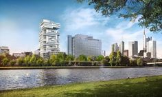 Architect Ole Scheeren has unveiled plans for his first project in Europe, which will see him overhaul a 1970s office block in Frankfurt to create 200 homes