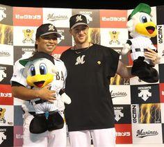 Tomoya Satozaki and Seth Greisinger (Chiba Lotte Marines)