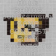 Alle Bands - Bundesvision Song Contest 2014 - Events - TV total - Each band represents a Bundesland