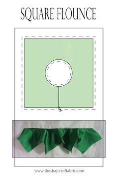 Did you know you can make the flounce out of a square shape, too? At the link there are all kinds of different flounce ideas. Sewing Class, Sewing Basics, Sewing Hacks, Sewing Tutorials, Dress Sewing Patterns, Clothing Patterns, Diy Crop Top, Pattern Cutting, Pattern Making