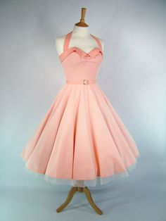 Made To Measure Full Circle Peach Cotton And Lace by GinAndSinEtsy, £165.00