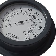 Close up of the CM4302 garden thermometer from ClimeMET