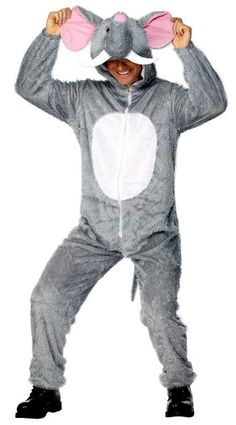Buy Adult Elephant Costume, available for Next Day Delivery. Our Adult Elephant Costume comes complete with the Plush Grey Jumpsuit with the attached Animal Hood. Outfit includes:JumpsuitHoodCostume Sizes Available: - . Animal Fancy Dress Costumes, Animal Costumes, Elephant Fancy Dress, Marvel Dc, Fancy Dress Jumpsuit, Dc Comics, Elephant Costumes, Halloween Circus, Elephant And Castle