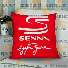 Sr4-ayrton Senna Brazil F1 Logo Cushion Pillow Case