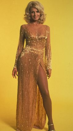 Angie Dickinson - long evening gown, 1970s