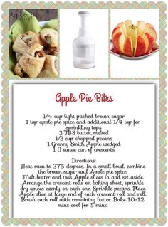 YUM and super easy! Pampered Chef Food Chopper, Pampered Chef Desserts, Pampered Chef Party, Pampered Chef Products, Appetizer Recipes, Dessert Recipes, Appetizers, Dessert Ideas, Yummy Recipes
