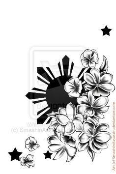 filipino sun and flower tattoo - Google Search