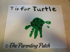 T Is for Turtle Handprint Craft | Parenting Patch