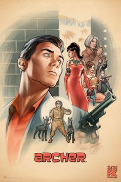 Archer season 7 continues to talk about highly skilled spy and his dangerous work. The government closed the secret spy agency. Archer Tv Series, Archer Tv Show, Archer Fx, Archer Season 1, Archer Cartoon, Sterling Archer, Netflix, Drew Carey, Fantasy