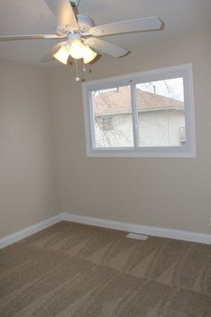 New Paint, Carpet and Ceiling Fan Installation,