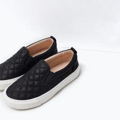 Quilted slip-ons