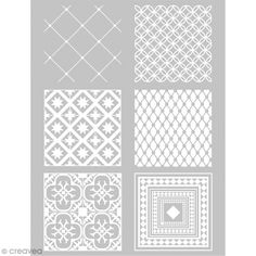 Compra nuestros productos a precios mini Plantilla para impresión de diseños sobre la pasta polímera - Cuadrado cemento - 11,4 x 15,3 cm - Entrega rápida, gratuita a partir de 89 € !