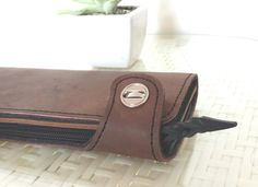 Womans leather clutch purse with surprising materials inside. (FREE shipping Brisbane) by skinsew on Etsy