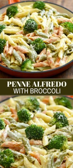 Penne pasta alfredo with tender-crisp broccoli florets and garlicky cream sauce you won't be able to get enough of! Easy to make ready in minutes and customizable this meatless pasta dish is perfect for busy weeknights. Penne Pasta Recipes, Best Pasta Recipes, Best Dinner Recipes, Pasta Dishes, Noodle Recipes, Rice Dishes, Cocktail Recipes, Vegetarian Pasta Recipes, Gastronomia
