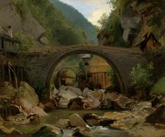 Mountain Stream In The Auvergne Painting by Theodore Rousseau