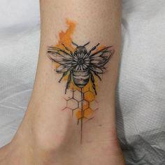 Cute bee tattoo ideas for you - Topstoryfeed - Cute bee tattoo ideas for you . - Cute bee tattoo ideas for you – Topstoryfeed – Cute bee tattoo ideas for you – Topstoryfeed - Rare Tattoos, Trendy Tattoos, Unique Tattoos, Beautiful Tattoos, New Tattoos, Small Tattoos, Awesome Tattoos, New Tattoo Styles, Feminine Tattoos