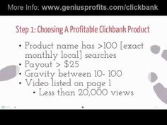 How To Make Money With Clickbank - Step by Step Tutorial >  Published on Aug 4, 2012    How To Make Money With Clickbank and YouTube Complete guide: http://www.geniusprofits.com/clickbank    So in this video, you'll learn how to make money with Clickbank products by promoting them on YouTube. You can make around $50 per day within few weeks. And remember, you can scale up by making more videos or joining other affiliate networks.