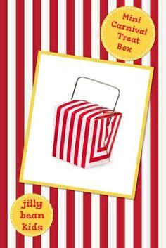 Mini Carnival Stripe Take-Out Boxes  - Jilly Bean Kids www.jillybeankids.com
