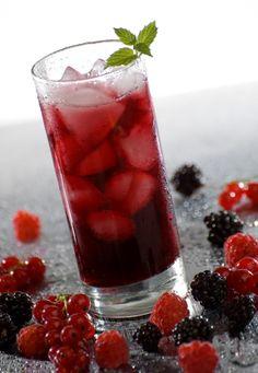 raspberry infused iced tea