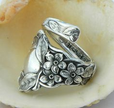 Spoon ring...love the flower details on the side!