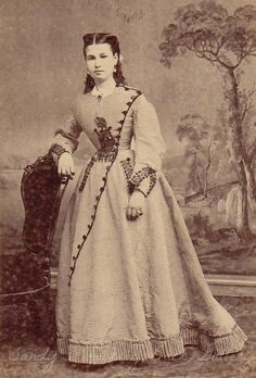 Wise & Prindle SF cdv ca 1864-6 I have never seen a dress detailed like this one before.  Very interesting!