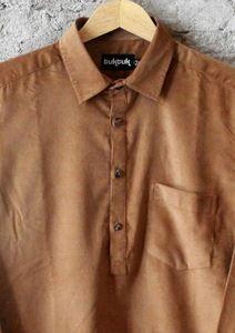 Caramel Cord Pullover Shirt