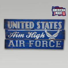 Air Force Plank Wood Sign | ArmedForcesGear.com | Armed Forces Gear