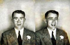 Young James Dean cheat -- not a photobooth, but charming all the same.