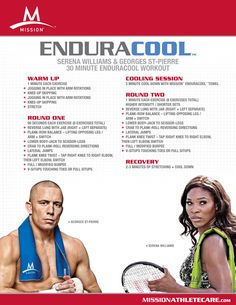 Can you handle this 30 minute workout by Serena Williams and Georges St. Pierre??