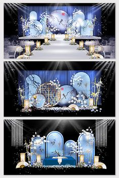 New Chinese style luxury wedding effect map Wedding Backdrop Design, Wedding Stage Design, Wedding Stage Decorations, Backdrop Decorations, Wedding Designs, Backdrops, Wedding Ideas, New Chinese, Chinese Style