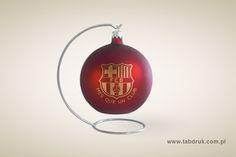 bombka choinkowa z logo FC Barcelona