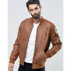 Washed Leather Bomber Jacket | Man shop and Leather