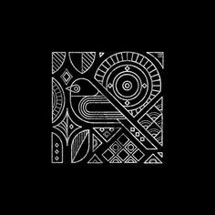 Minimal yet complex geometric pattern with Bird motif. Tribal Patterns, Patterns In Nature, Nature Pattern, Indian Patterns, Madhubani Art, Madhubani Painting, Tribal Art, Geometric Art, Geometric Graphic Design