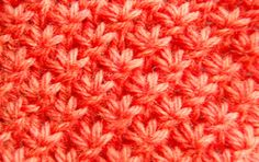 How to knit star stitch in the round (would be nice in a cowl)