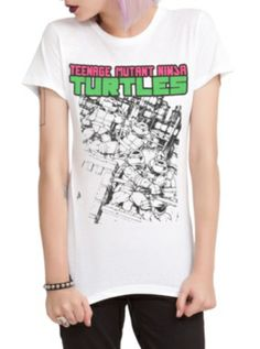 Teenage Mutant Ninja Turtles Tonal Sketch Girls T-Shirt