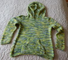 Knitting hooded sweater children