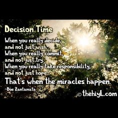 Decision...