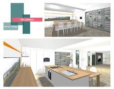 projet cuisine   B_indoor   www.b-indoor.com/ #decoration #design #agencement #contemporain #art #mobilierdesign #amenagement #plans #cuisine #kitchen #plandetravail #credence #electromenager #parquet #carrelage #faience #grescerame