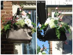 Beautifull flowers in a. Leather Bags, Wreaths, Flowers, Home Decor, Homemade Home Decor, Door Wreaths, Leather Formal Bags, Deco Mesh Wreaths, Bloemen