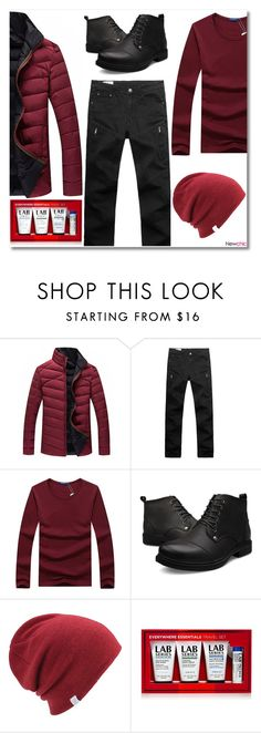 """""""NewChic #28"""" by oliverab ❤ liked on Polyvore featuring Coal, Lab Series, men's fashion, menswear, burgundy, men, newchic and lovenewchic"""