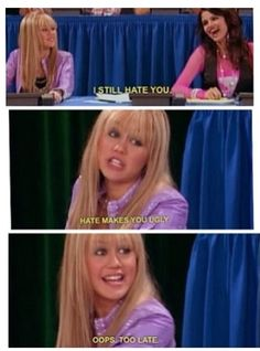 Hannah Montana, my fav show when I was little Old Disney Channel Shows, Old Disney Shows, Hannah Montana Funny, Hannah Montana Quotes, Zack E Cody, Zeina, Old Tv Shows, Disney Stars, Have A Laugh