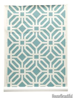 Trellis. Go for bold — and modern — with an overscale pattern. Paper in Vapor on Almost White, by Home Couture. quadrillefabrics.com.
