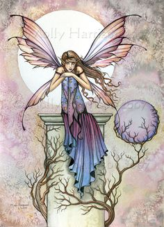 ACEO A Place to Think Fairy Fantasy Art  LE Print by Molly Harrison Fantasy Art